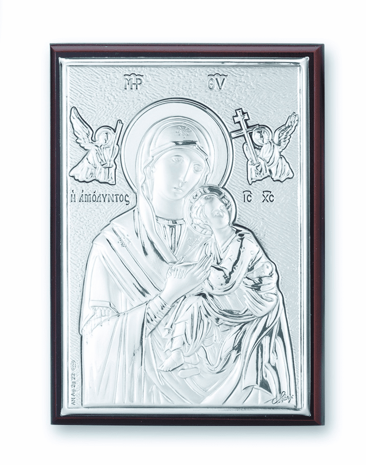 Salerni Sterling Silver Our Lady of Perpetual Help Wall Plaque
