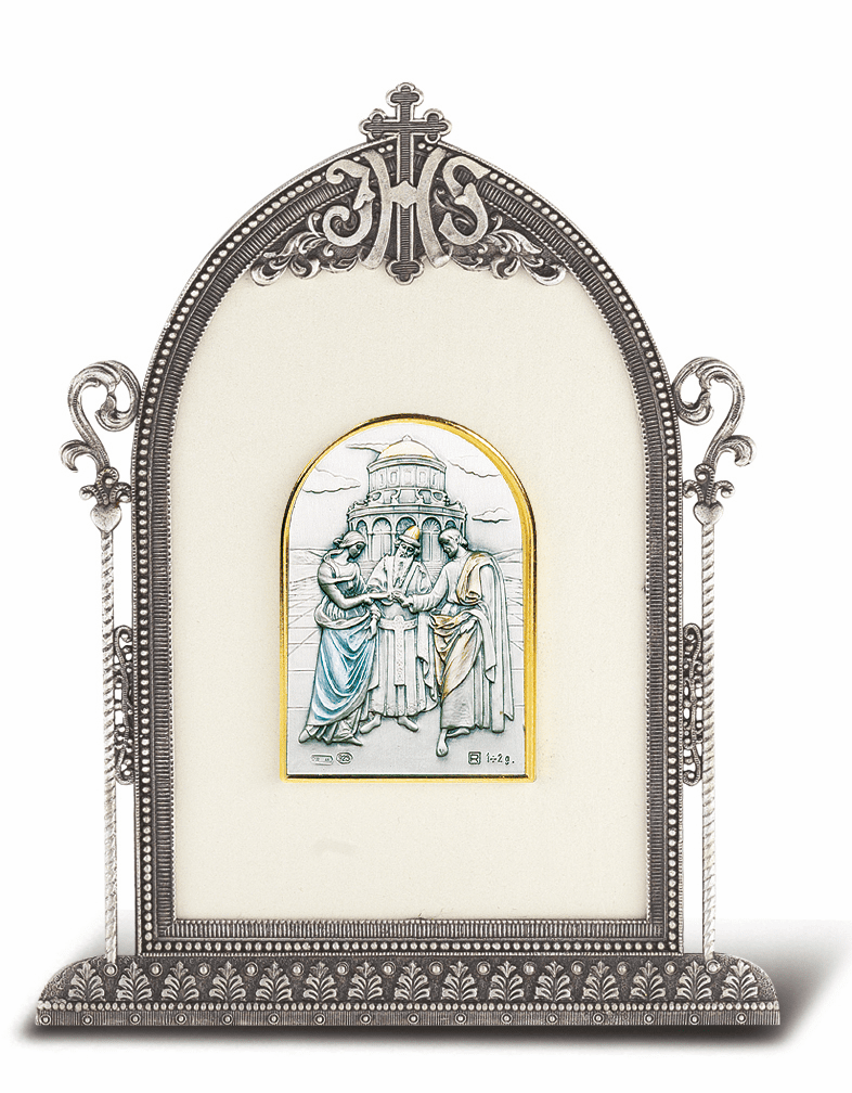 Salerni Sterling Silver Religious Marriage Easel Back Plaque