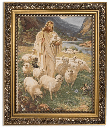 Sallman Lord Is My Shepherd Framed Print Picture with Gold Frame by Gerffert