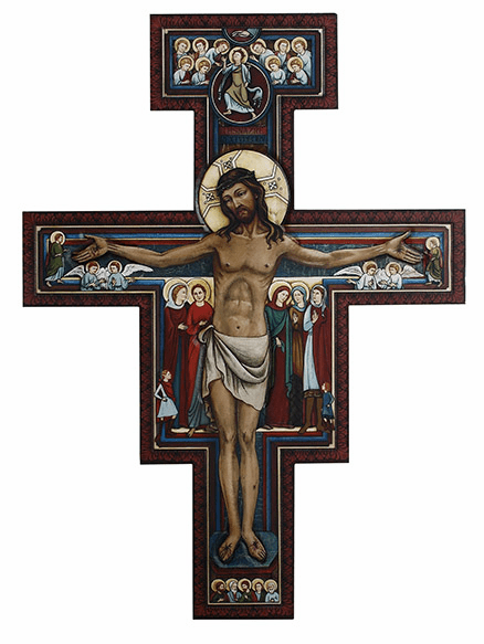 """San Damiano Crucifix 31"""" H Marco Sevelli Wall Plaque by Sacred Traditions"""