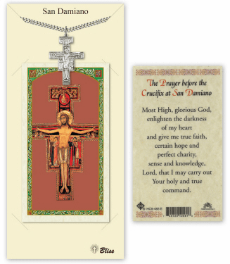 San Damiano Pendant and Holy Prayer Card Gift Set by Bliss