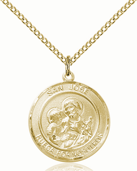 San Jose/St Joseph Spanish Patron Saint 14kt Gold-filled Medal by Bliss