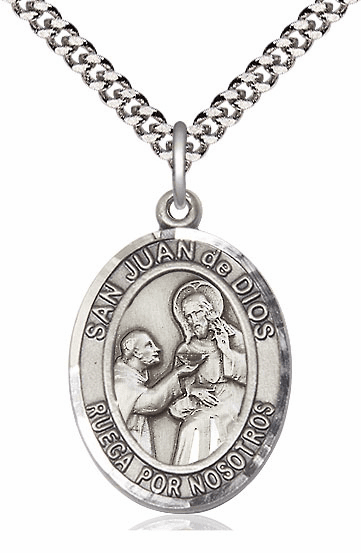 San Juan de Dios/St John of God Spanish Silver-Filled Patron Saint Medal by Bliss