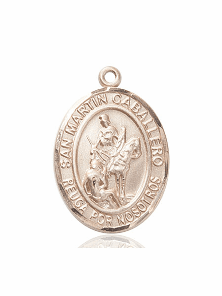 San Martin Caballero/St Martin of Tours 14kt Gold Paton Saint Medals By Bliss