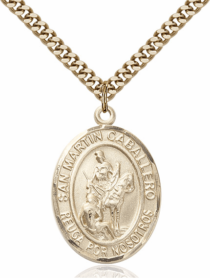 San Martin Caballero/St Martin of Tours Gold Filled Patron Saint Medal By Bliss