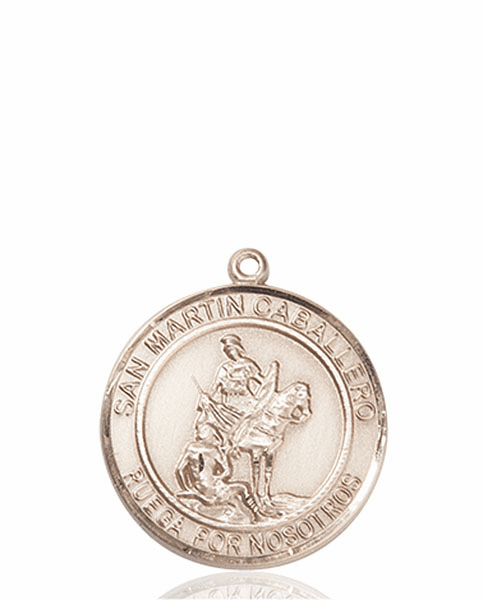 San Martin Caballero/St Martin of Toursis Spanish Patron Saint 14kt Gold Medal by Bliss