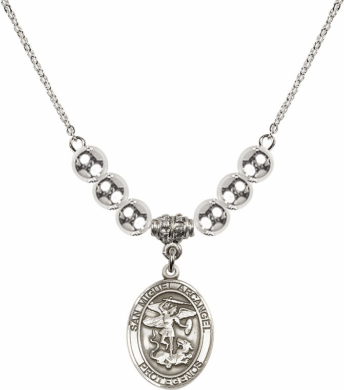 San Miguel Arcangel Silver Necklace by Bliss Mfg