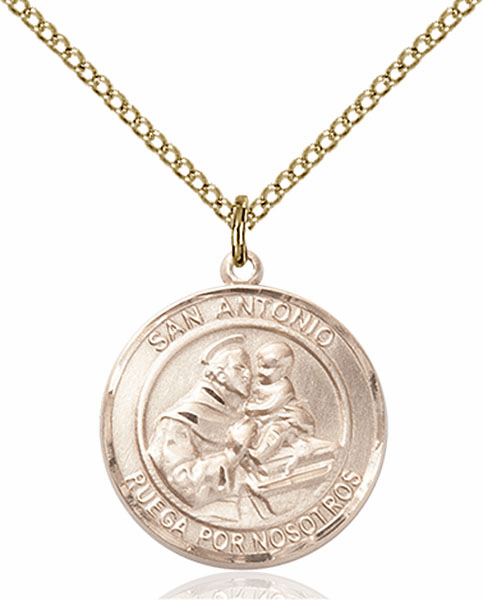 Santa Antonio/St Anthony Spanish Patron Saint 14kt Gold-filled Medal by Bliss