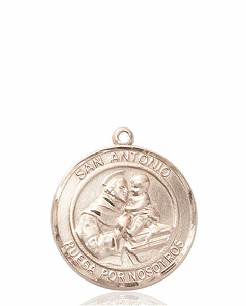 Santa Antonio/St Anthony Spanish Patron Saint 14kt Gold Medal by Bliss