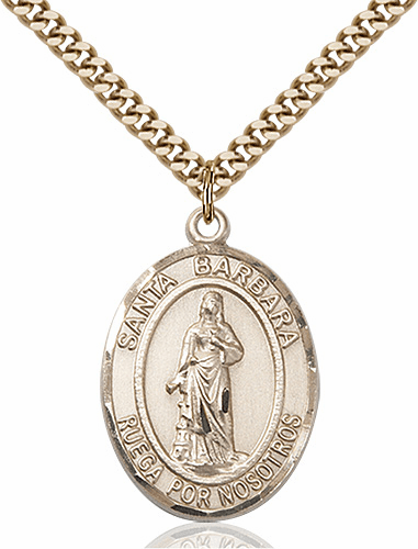 Santa Barbara 14kt Gold-filled Saint Necklace by Bliss