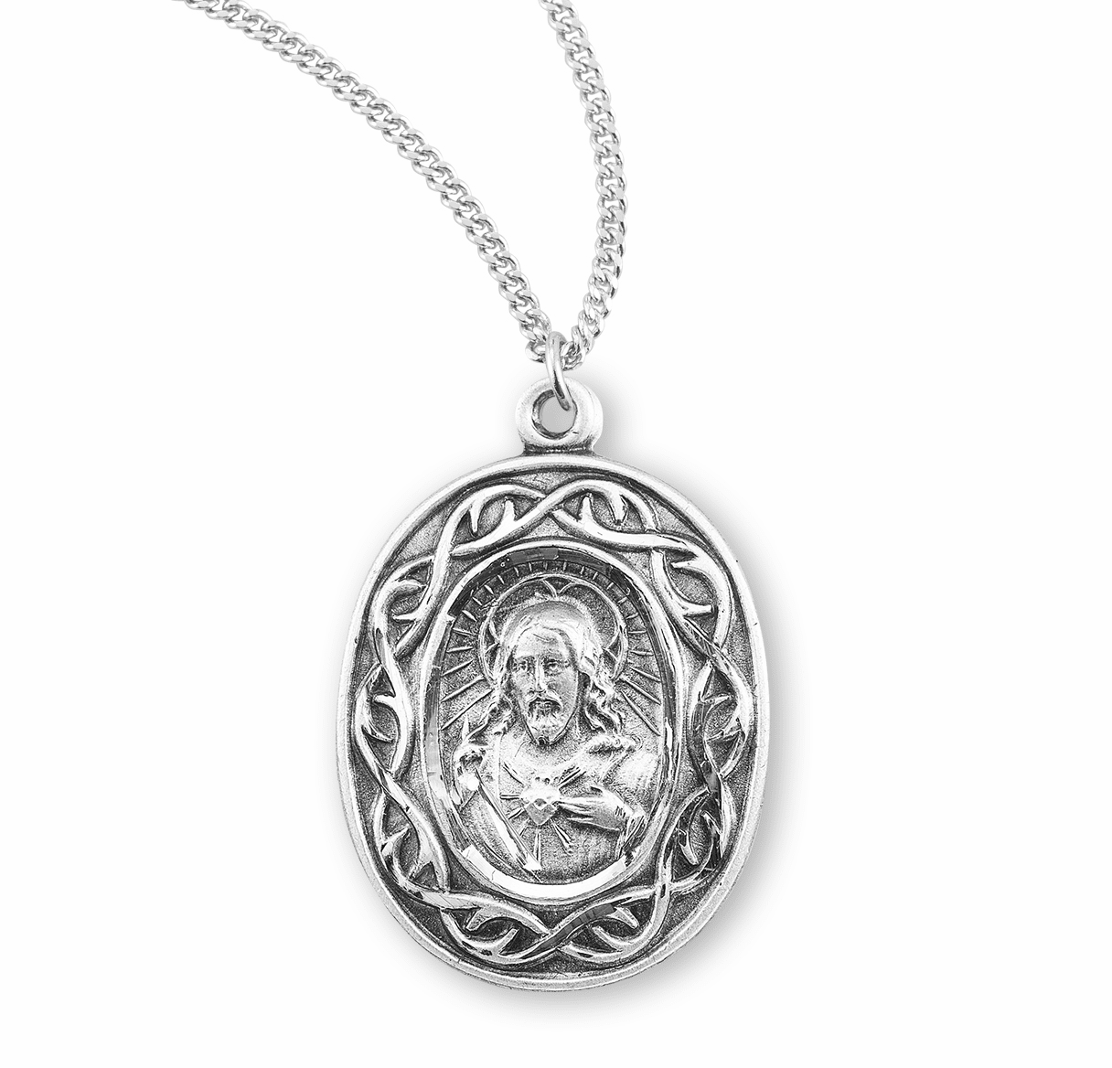 Scapular Crown of Thorns Medal Necklace by HMH Religious