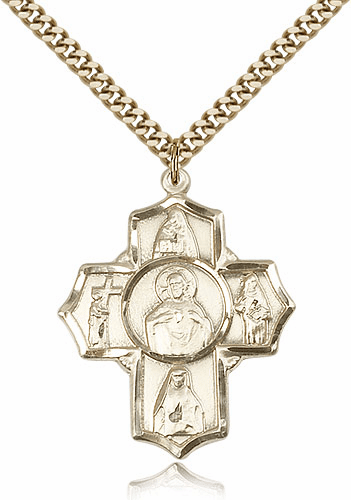 Scapular Four-Way Cross 14kt Gold-filled Pendant Necklace by Bliss