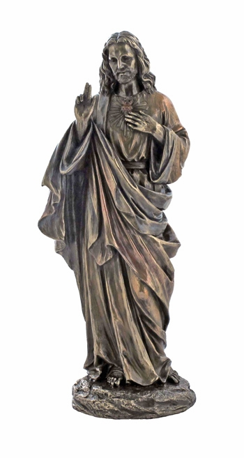 Scared Heart of Jesus Cold-Cast Bronze Statue by Veronese Collection