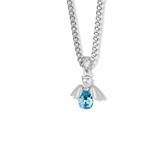 TURQUOISE DECEMBER BIRTH STONE ON A 925 SILVER CELTIC CROSS PENDANT NECKLACE