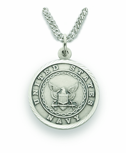 Singer Men's US Army St Michael Nickel Silver Military Necklace
