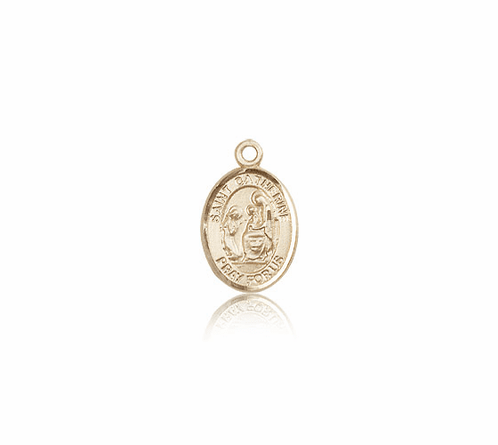 Small 14kt Gold St. Catherine of Siena Patron Saint Medals