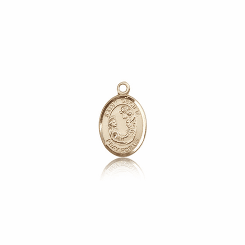 Small 14kt Gold St. Cecilia Patron Saint  Medal