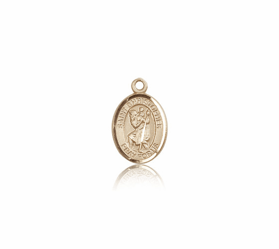 Small 14kt Gold St. Christopher Patron Saint Medals