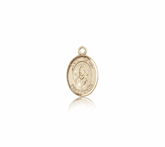 Small 14kt Gold St. David of Wales Patron Saint Medal