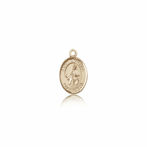 Bliss Manufacturing Small Charm14kt Gold St. Dymphna Medal