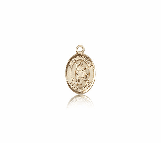Small 14kt Gold St. Hubert of Liege Medal