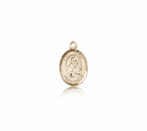 Bliss Manufacturing Small 14kt Gold St. Isidore of Seville Medal