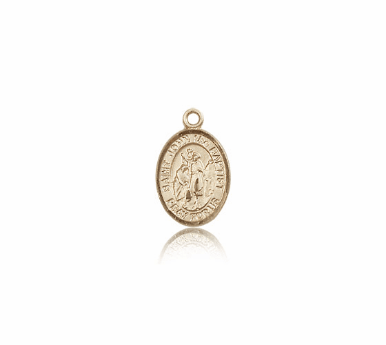 Small 14kt Gold St. John the Baptist Medal