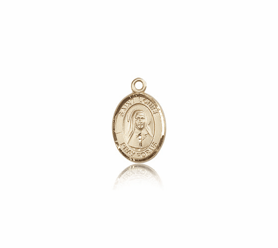 Small 14kt Gold St. Louise De Marillac Saint Medal