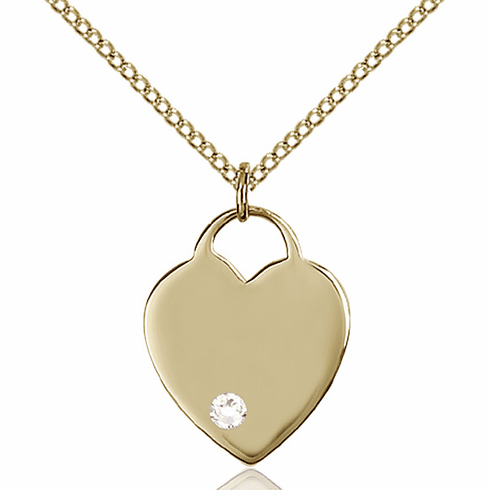 Small Birthstone Crystal April 14kt Gold-filled Necklace by Bliss