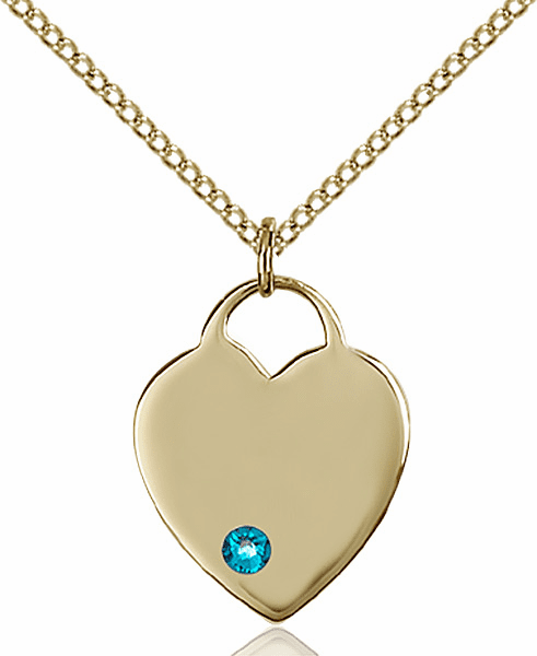 Small Birthstone Crystal December Zircon 14kt Gold-filled Necklace by Bliss