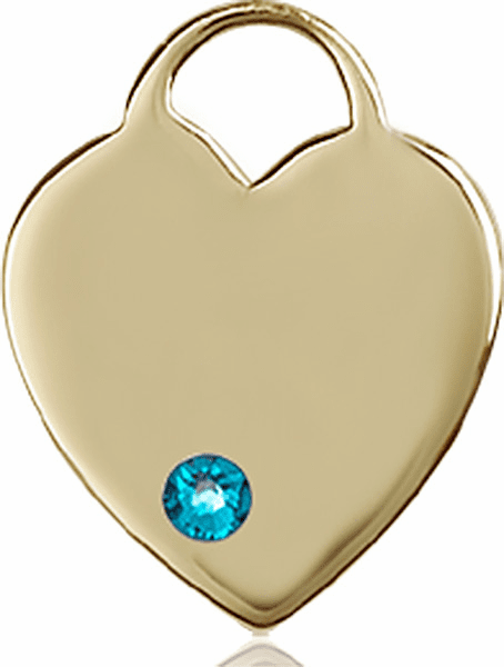Small Birthstone Crystal December Zircon 14kt Gold Necklace by Bliss