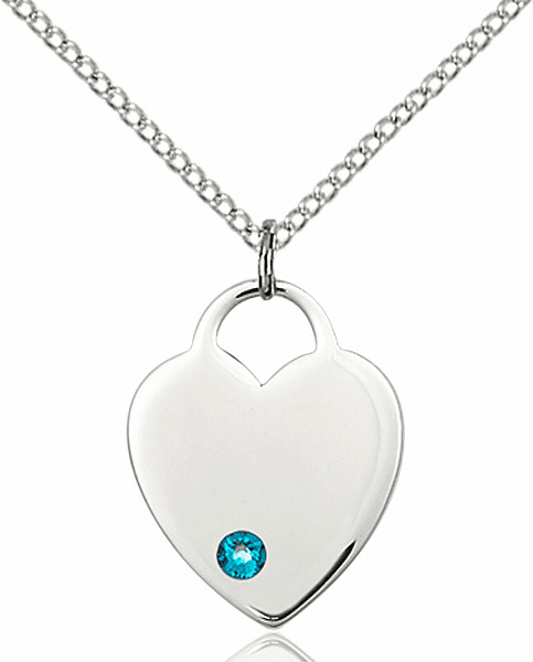 Small Birthstone Crystal December Zircon Sterling Silver Necklace by Bliss