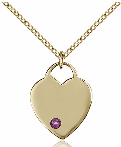 Small Birthstone Crystal February Amethyst 14kt Gold-filled Necklace by Bliss