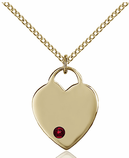 Small Birthstone Crystal January Garnet 14kt Gold-filled Necklace by Bliss