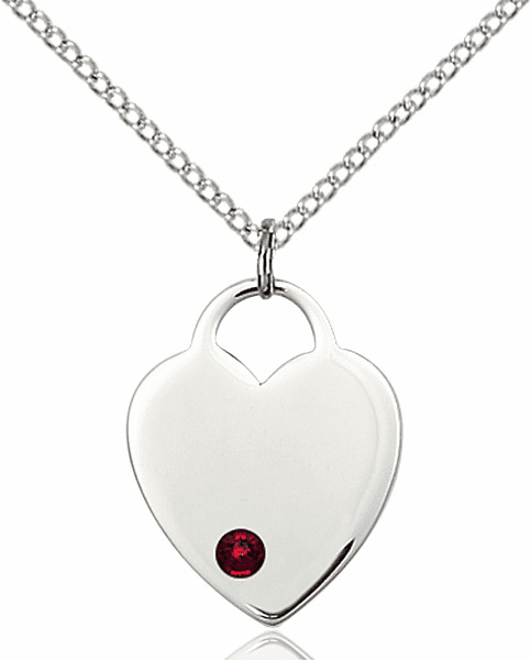 Small Birthstone Crystal January Garnet Sterling Silver Necklace by Bliss