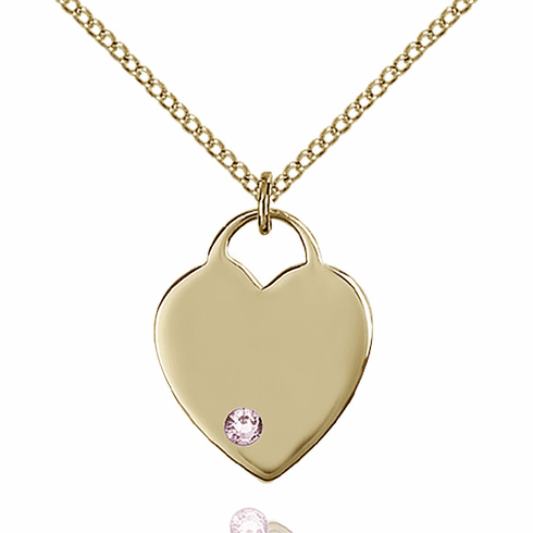 Small Birthstone Crystal June Lt Amethyst 14kt Gold-filled Necklace by Bliss