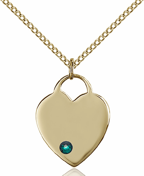 Small Birthstone Crystal May Emerald 14kt Gold-filled Necklace by Bliss