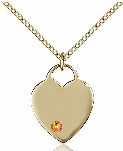Small Birthstone Crystal November Topaz 14kt Gold-filled Necklace by Bliss
