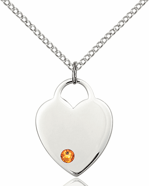 Small Birthstone Crystal November Topaz Sterling Silver Necklace by Bliss