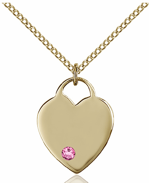 Small Birthstone Crystal October Rose 14kt Gold-filled Necklace by Bliss