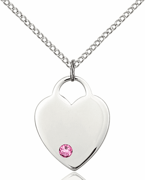 Small Birthstone Crystal October Rose Sterling Silver Necklace by Bliss