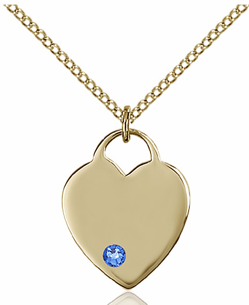 Small Birthstone Crystal September Sapphire 14kt Gold-filled Necklace by Bliss