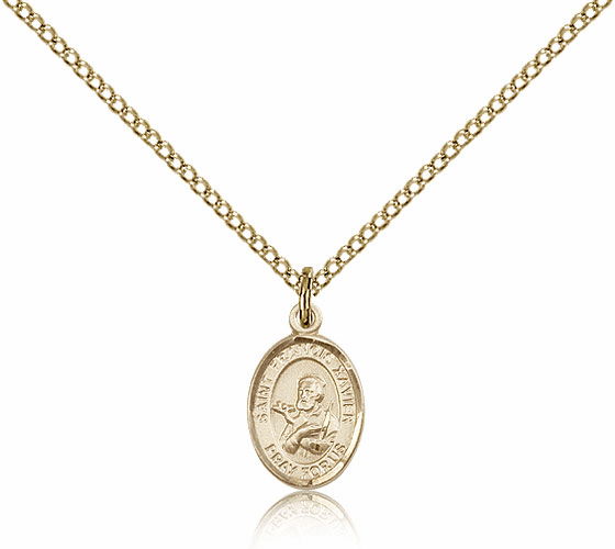 """Small Charm Patron Saint 14kt Gold-filled Necklace by Bliss """"More Saints"""""""