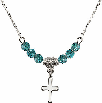 Small Cross Beaded Charm Necklaces