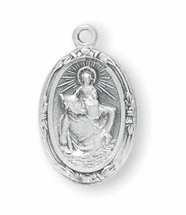 Small Oval St. Christopher Necklace by HMH Religious