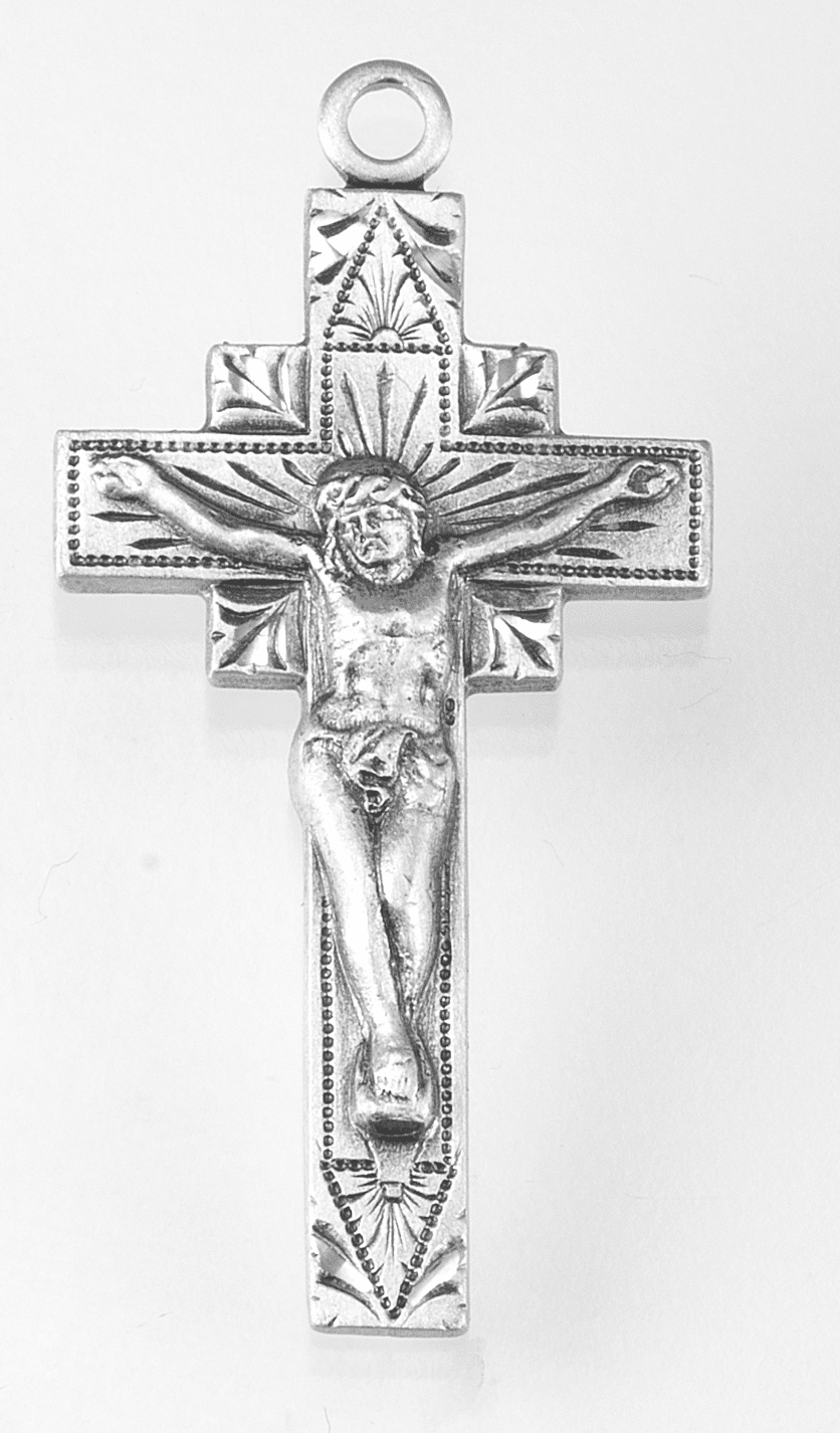 Small Sterling Silver Crucifix Rosary Part by HMH Religious