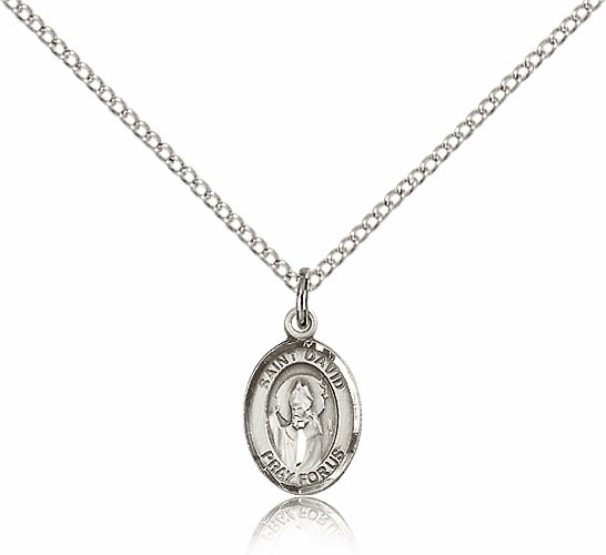 Small Sterling Silver St. David of Wales Patron Saint Medal