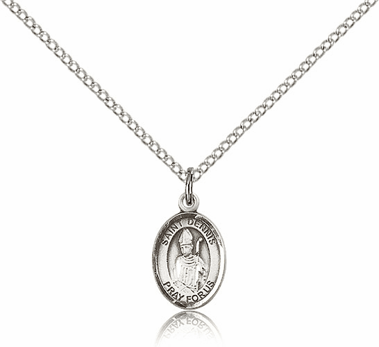 Small Sterling Silver St. Dennis Saint Patron Saint Medal