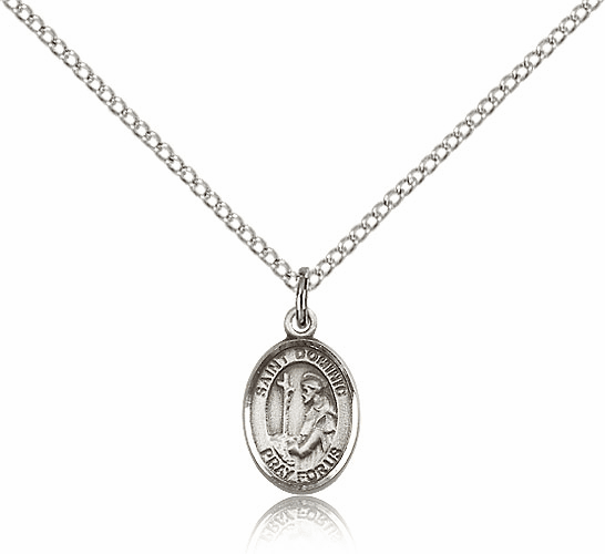 Small Sterling Silver St. Dominic de Guzman Pendant by Bliss Manufacturing