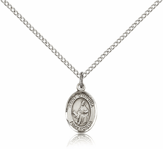 Small Sterling Silver St. Dymphna Pendant by Bliss Manufacturing